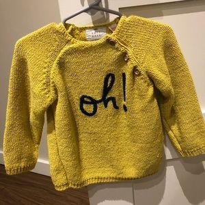 Zara toddler boys knit sweater size 18-24 months